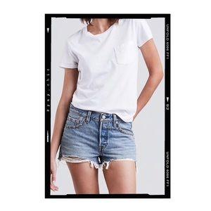 Levi's 501 Distressed Cutoff Denim Shorts